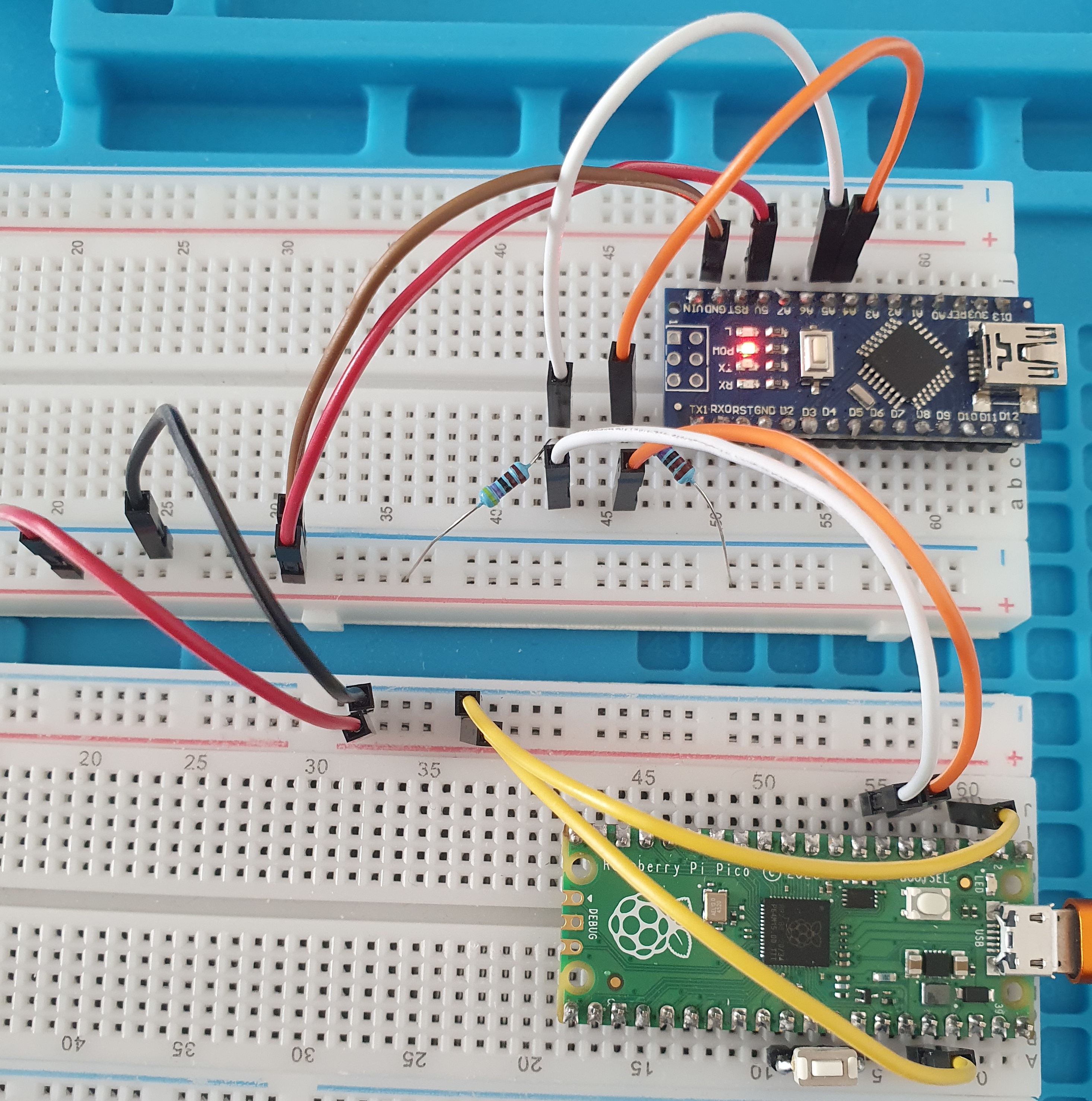 Wiring Arduino and Raspberry Pi Pico
